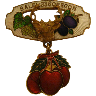 Vintage Enameled Salem Oregon 336 Elks Lodge Pin