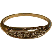 Fine 14K Diamond Ring - Size: 7.75