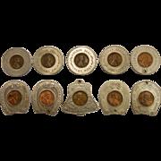 Set of 10 Vintage Souvenir Lucky Pennies