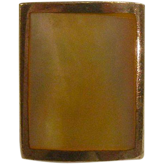 Vintage Mother of Pearl Sterling Silver Ring - Size: 5.75
