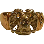 Vintage 10K Diamond Ring w/ Double Eagles - Size: 9.5
