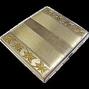 Vintage Elgin Gilded Sterling Silver Cigarette Case Initialed Dorothy