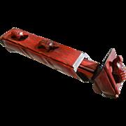Vintage Rosewood Carved Chopsticks & Storage Box w/ Carved Turtles - Red Tag Sale Item