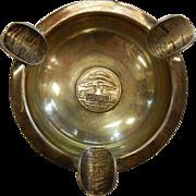 Vintage 1950's Lebanon Tourist Coin Silver Ashtray