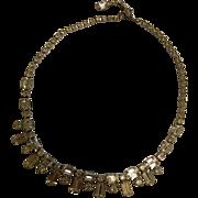 Vintage Signed Kramer Crystal Rhinestone Necklace