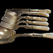 Vintage Stering Silverware Set w/ Mother of Pearl Handles