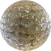 Oleg Cassini Signed Crystal Paperweight Golf Ball