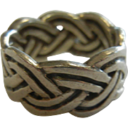 Fine Sterling Silver Celtic Infinity Knot Ring - Size 6