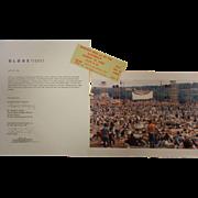 Vintage Pair of Original 1969 Woodstock Tickets & Photos