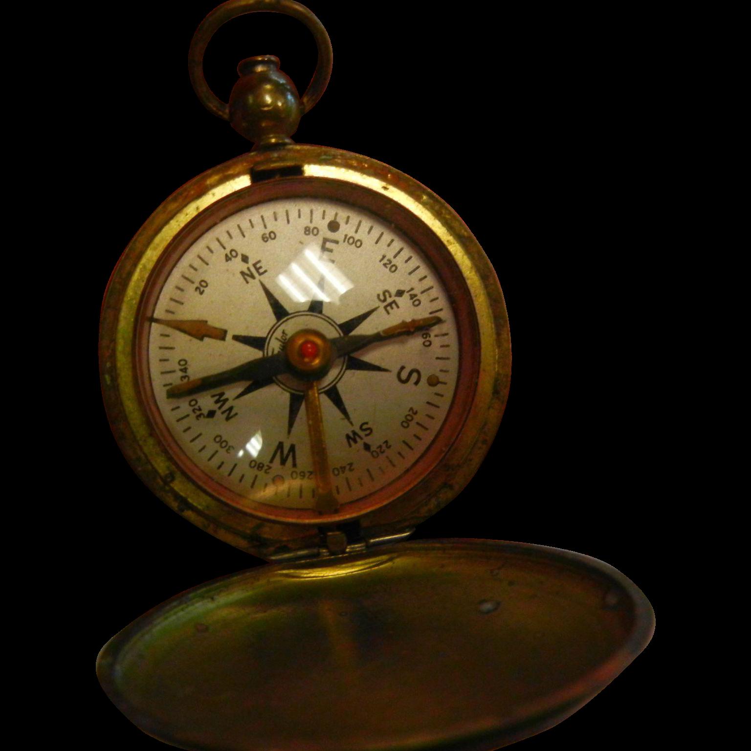 Vintage Pocket Compass Bigking Keywords And Pictures