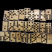 Antique Dominoes Set w/ Ebony Backing