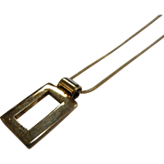 Fine Signed Sterling Silver Pendent Necklace Signed D'escorcia