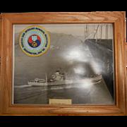 Framed Vintage Photograph of USS Polaris AF-11