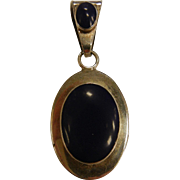 Awesome Mexico Sterling Silver & Lapis Lazuli Pendent