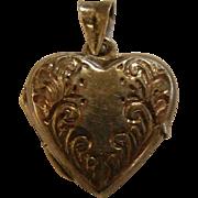 Vintage Sterling Silver Heart-Shaped Locket Pendent