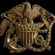 Vintage Sterling Silver American Eagle Naval Medic Pin
