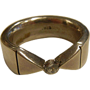 Awesome Sterling Silver CZ Tension Ring