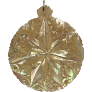 Fine Carved Mother of Pearl Amulet Pendent