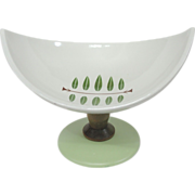 RARE Japan Signed Mid Century Modern 1/2 Slice Curved Pedestal Dish/Bowl - Red Tag Sale Item