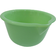 1940's Jadeite Glass Small Mixing Batter Bowl with Spout