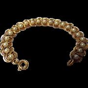 Vintage Costume Simulated Pearl Bracelet