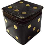 Fantastic Black All Leather Treasure Box Dice