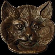 Vintage Bronze Cat Dish