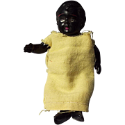 Vintage Celluloid Black Doll, Jointed