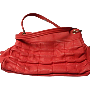 All Leather Cole Haan Coral Color Handbag