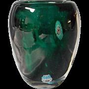 Vintage Art Glass Vase, Millefiori Design