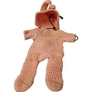 Adorable Vintage Hand Crocheted Doll Bunting