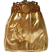 Adorable Vintage Kiss Lock Evening Bag