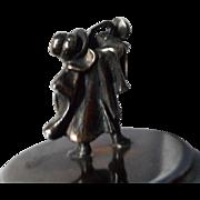 Vintage Silverplate Figural Bugler Bottle Cork