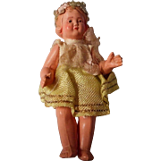 All Original Celluloid Doll House Doll