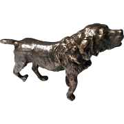 Vintage Figural Setter or Retriever, All Metal