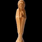Vintage Hand Carved Madonna