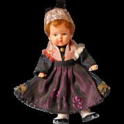 Vintage European Doll House Doll in Original Costume