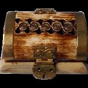 Vintage Carved Hoof Hinged Box