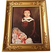 Metal Framed Doll House Portrait