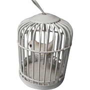 Vintage all metal Bird Cage and Bird
