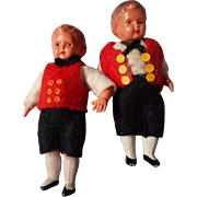 Vintage CelluloidTwin Boy Dolls for Doll House