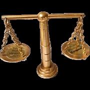 Vintage Brass Miniature Scales