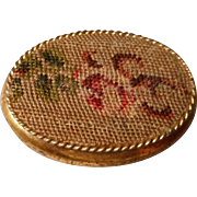 Vintage Petit Point Pill Box