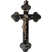 Vintage Large Crucifix with Inlaid Gutta Percha