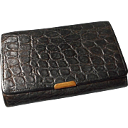 Vintage Leather Embossed Skin Wallet