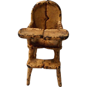 Antique Cast Iron High Chair for All Bisque or Doll House