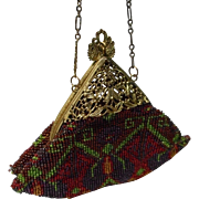 Antique Early Century Beaded Handbag