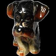 Vintage Terrier Dog Bottle with Cork