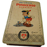 Vintage German Pinocchio Card Game, Schmid