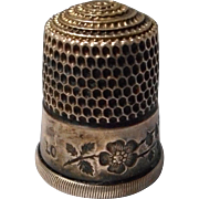 Vintage Sterling Engraved Thimble